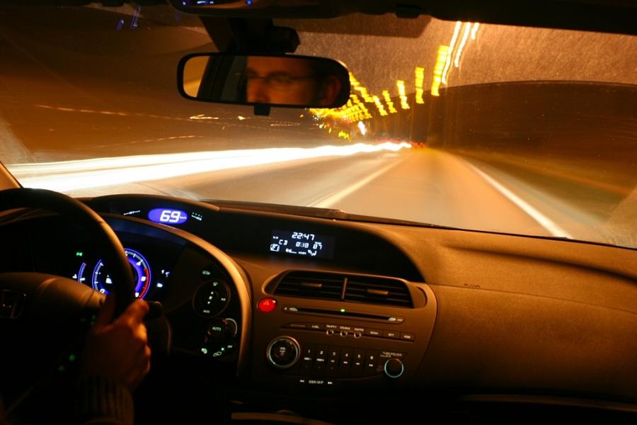 Фото из за руля машины